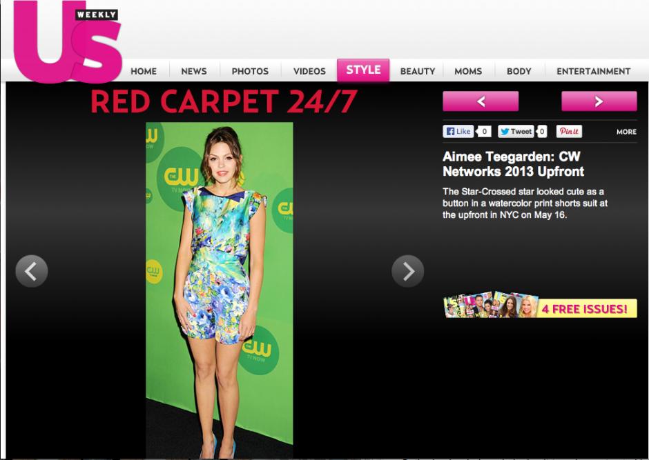 Aimee Teegarden featured on US Weekly